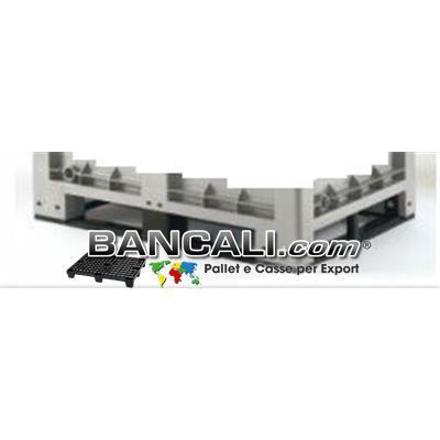 4 Slitte per CargoPallet Box in Plastica  2 Lunghe e 2 Corte complete di Viti e Bulloni
