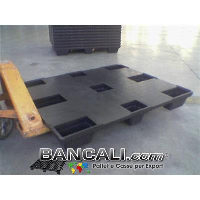 BANCALE PIANALE CHIUSO 100x120 ROBUSTO  in PLASTICA Piedi 9 INSERIBILE  Kg. 7,6  EXPORT-PALLET®  Idoneo per la Logistica. Peso Tara Kg. 7,6