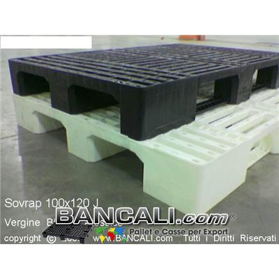 BANCALE SOVRAPPONIBILE 100x120 colore  Nero  con  3  BINARI in PLASTICA  ROBUSTO