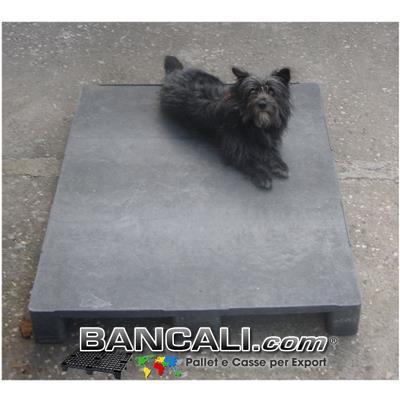 BANCALE in PLASTICA 100x120 PIANALE CHIUSO, COLORE GRIGIO 3 SLITTE   PESANTE  ( idoneo come Pedana)