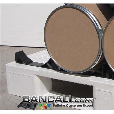 BASE Distanziatore Separatore in Plastica Porta 4 Bobine avente forma di Selle Culle Lunga 1100 mm Diametro minimo del rotolo 270 mm. Diametro Max 290 mm.
