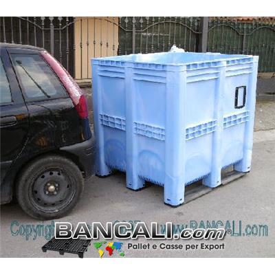 BOX GRAN VOLUME  1390 Litri  Versione Pareti Chiuse. Dimensioni: Larghezza 1150 mm x lunghezza 1300 mm x altezza 1300 mm. Peso 72 kg.
