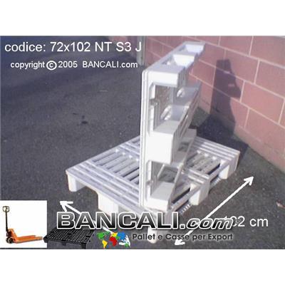 Bancale Atossico 72x102 Forcabile con transpallet su 4 Lati Kg. 8,2