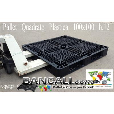 Bancale Perimentrale Quadrato 100x100  h.12 cm  in  PLASTICA con i gommini sul pianale