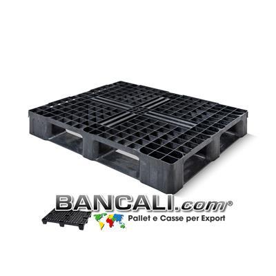 Bancale in Plastica 1000x1200 Perimetrale con 6 Slitte sotto, di Media Pesante robustezza. Peso 16 Kg.