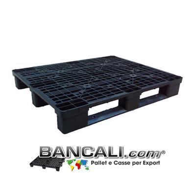 Bancale in Plastica 100x120 con 3 traverse, Pianale grigliato molto robusto Peso Tara. 13 Kg.