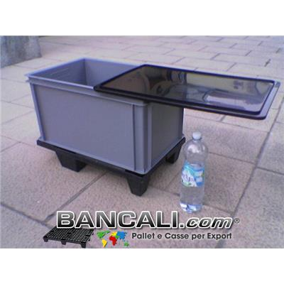 Box Cassa x Export Sovrapp. 40x60 h.33 Robusta con coperchio. Kg. 3,2