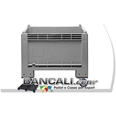 CASSONE CargoPALLET300 + RUOTE BOX in PLASTICA 700x1000x h650 Litri 297 con 4 Ruote h.800 mm
