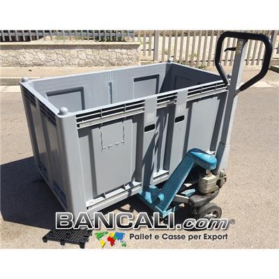 Cargo Pallet BOX 800x1470 h.850 mm. Combinato. Pareti Chiuse 4 Piedi Peso Rinforzato 4 Barre 4 vieTara 40 Kg.