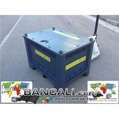 Cassa per Export 700x1000 h.650cm 300 Litri in Plastica 7 piedi  Vie 2 Rinforzata con Coperchio Peso Tara 24 Kg.