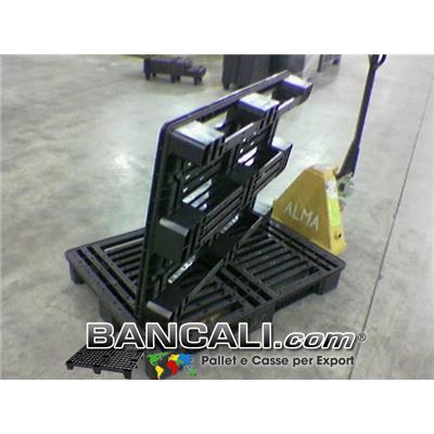 Container Pallet, 830x1130 h.140 mm. Pallet Robusto, Sovraprapponibile 3 Slitte Peso Tara: Kg. 10