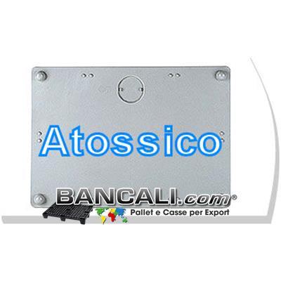 Coperchio in Plastica Cassa Grande Combi Cargo Pallet  ATOSSICO per Uso Igienico dimensione: 1200x1600 mm. saldato in modo speciale con Plastica a caldo,  dotato di 2 maniglie Peso Tara circa 3,5 Kg.