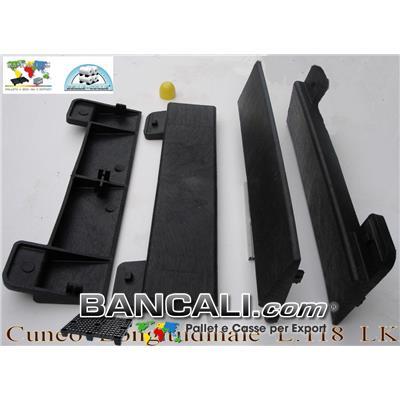 Cuneo Longitudinale 1180 mm. alto 80 mm. in Plastica per bobine Cilindri, Zeppa Forte e Resistente Peso Tara 6 Kg.