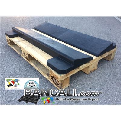 Cuneo Longitudinale 1190 mm. h 80 mm. in Plastica per bobine Cilindri, Zeppa Forte, con Block System idoneo al bancale EPAL in Legno, Peso Tara 7 Kg.