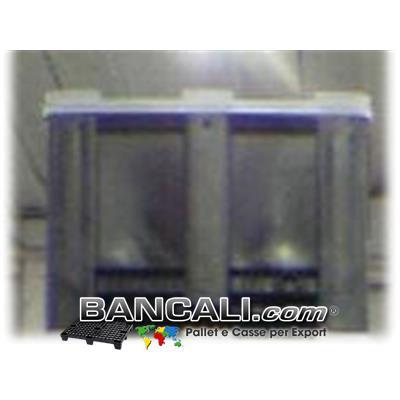 EXPORT-BOX® Cassone in Plastica 100x120  h.76cm PARETI Chiuso  4 Piedi  Kg. 37 incluso Coperchio ( di forma RETTANGOLARE ).