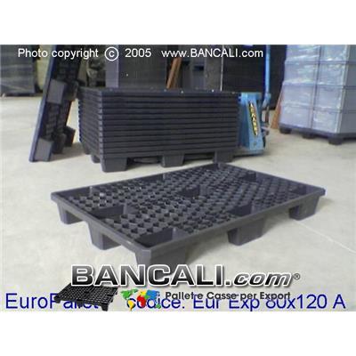 EXPORT-PALLET® in Plastica 800x1200 Inseribile Grigliato a maglia Esagonale Alveolare di Media Robustezza, Peso Tara 8 Kg.