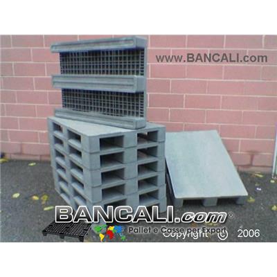 EuroPALLET 80x120 in Plastica, Robusto Pianale Chiuso e Ruvido per Uso Universale.  Realizzato con Plastiche riciclate di vario genere. Kg. 24.6