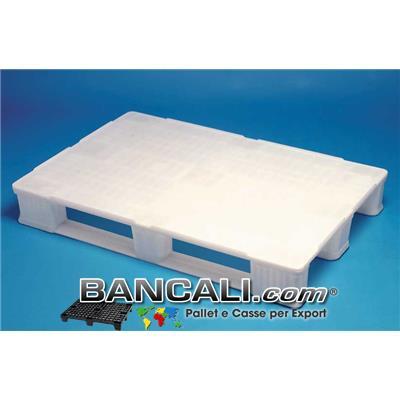 EuroPALLET  HACCP Igienico  80x120 sterilizzabile, sovrapponibile, idoneo al settore FARMACEUTICO.  Kg. 14,6  con 3 slitte che lo rendono idoneo alla sovrapponibilità, anti-ribaltamento con Muletto, e adatto a rulliera.