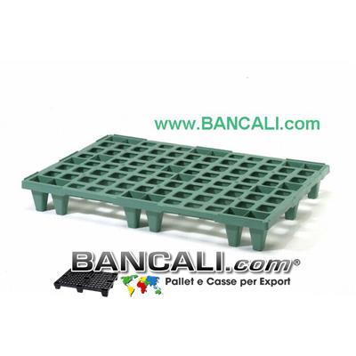 Europallet  Plastica  80x120 Leggero x Export  Colore Nero Inseribile  MultiPiede  Kg. 5. TOTALMENTE SENZA BORDI.