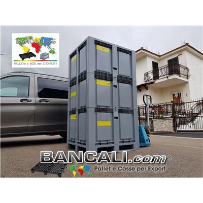 Export Box a TORRE 1000x1200 mm. per spedire Apparecchiature o Attrezzature Alte. Cassa in Plastica con misure interne: 900x1100 h 1900 mm. Peso Tara Kg.85