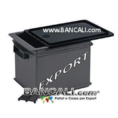 Export Box da 21 Litri 30x40 h.26 cm con coperchio a slitta