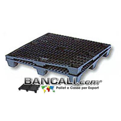 Export Plastic Pallet 100x120 Inseribile  Grigliato  Kg. 10 Plastica 9 Piedi Maglia Quadr.
