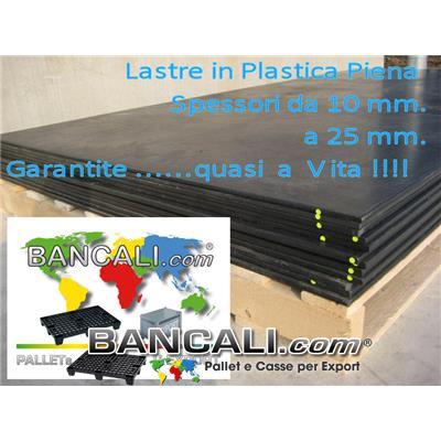 Lastra in Polipropilene 1500x3000 h.10 mm. Riciclata molto Robusta e Resistente idonea per  lavori pesanti Peso Tara 36 Kg.