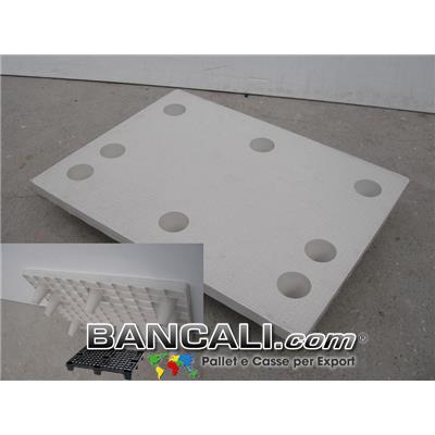 MiniPALLET 60x80 Piano Chiuso inseribile / impilabile / Innestabile con 9 Piedi Conici, di cui 3 Asimetrici; Pianale Ruvido bollinato.  Kg. 5,5