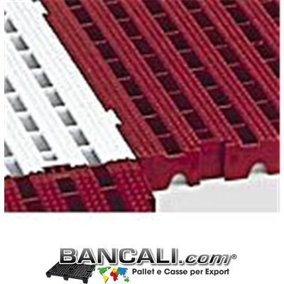 Pedana Forata incastrabile 500x500 h.50mm Passerella Pedonabile Pavimentazione in plastica, componibile su 4 lati stampata in vari Colori PesoTara:
