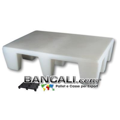 Pedana HACCP Alta 30 cm Igienica 80x120 Piano Liscio Chiuso