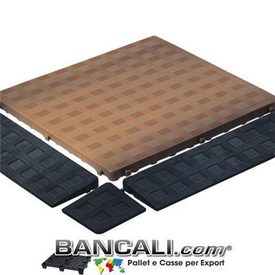 Pedana Sottile Morbida 50x50 E h.2,5  Piano Chiuso Colore Marrone idonea per pavimmentazione  Componibile