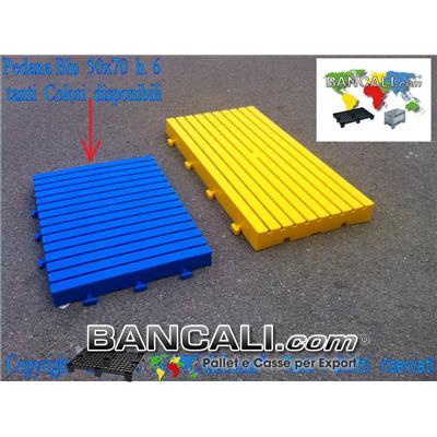 Pedana incastrabile 500x700 h.60mm Passerella Pedonabile Pavimentazione in plastica, componibile su 4 lati stampata in vari Colori PesoTara: 3,2 Kg