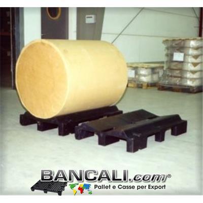 Roll Cradle Pallet 670x1000 mm  Max Diameter 2000 mm. Tara 21 Kg.