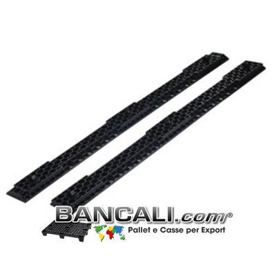 Slitte o Traverse ad incastro in Plastica lunghe 120 cm;  Forate a  forma di esagoni alveolare, con 3 puntali per agganciarli a ciascuno dei 3 piedi del bancale;  Kg. 1