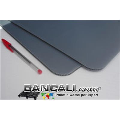 interfalda Separatore in Plastica di PP dimensione 800x1400  mm. 5  con angoli arrotondati  (Grammatura 1200 Gr. al MQ.) peso = 1,3 Kg.