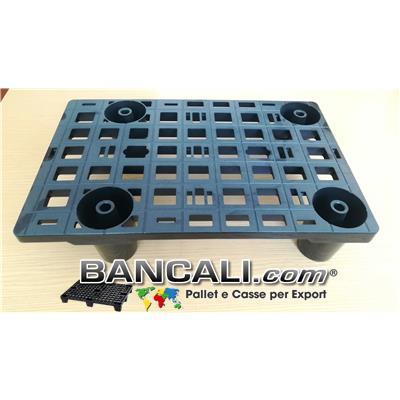 microPALLET®  Espositore 385x585 h 125 mm. Display Pallet in Plastica Espositore Grigliato 4 piedi.   Peso Tara 1,1 Kg.