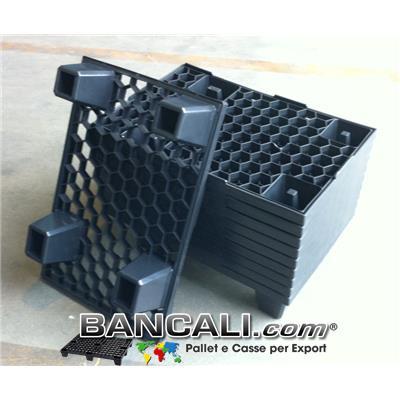 microPALLET® in Plastica 400x600 mm. a maglia esagonale, Peso Tara Kg. 1,5
