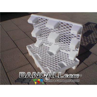 miniPALLET Atossico 600x800 mm. BIANCO Inseribile grigliato a maglia esagonale, realizzato con plastiche vergine di prima fusione, inodori. Tara Peso Kg.3