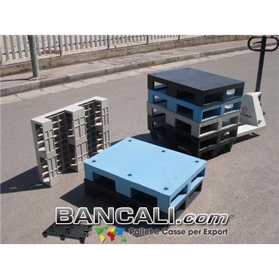 miniPALLET piano Chiuso 60x80 Igienico 3 Traverse , dotato  di 6 gommini antiscivolo;  Peso Tara, 10 Kg.
